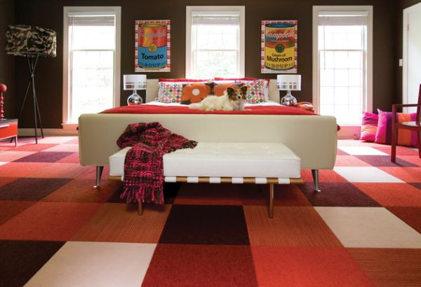 Stylish Pop Inspired Colorful Bedroom With A Mid Century Modern Style Bench By Supon Phornirunlit