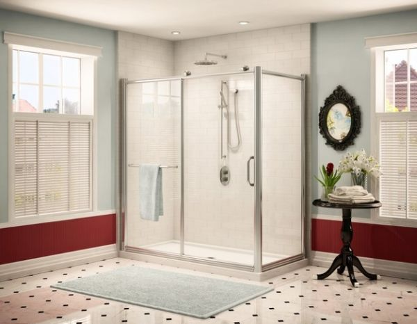 Stylish Shower Area Promises A Spa Like Atmosphere At Home In Artistic Bathroom Decor