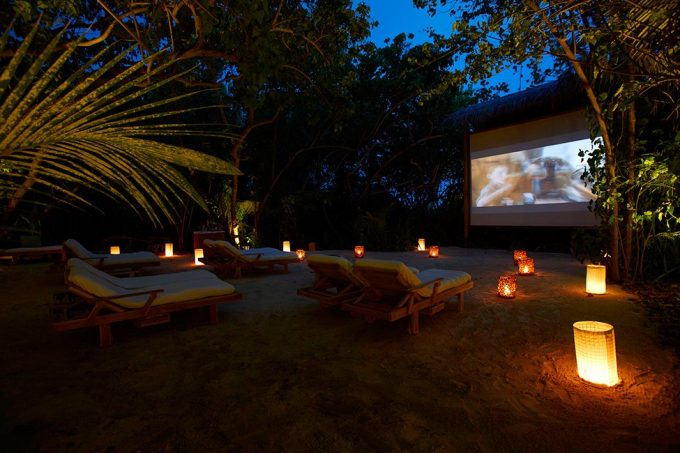 Tropical Resort With Outdoor Cinema Design Private Island Retreat Inspiration