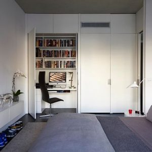 Ultra Modern Teenage Boy Room Design With Hideaway Desk And Beautiful Small Room Arrangement