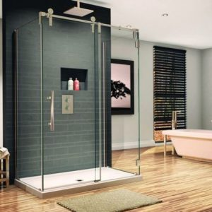 Vibrant Shower Room With Glass Shower Enclosure Perfect For The Contemporary Bathroom