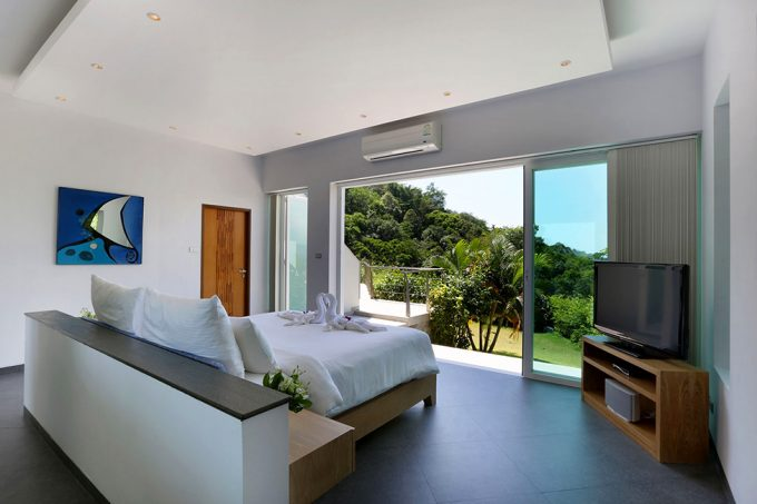 Villa Beyond Bedroom Decor With Green View And Breezy Natural Air