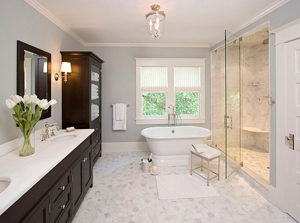 White Cultured Marble In A Bright Bathroom For Inexpensive Counters Vanity Decor