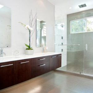 Wonderful Custom Crafted Vanity In Dark Tones Balances Visually The Soft And Glowing Lighting Around Vanity Lighting Decor