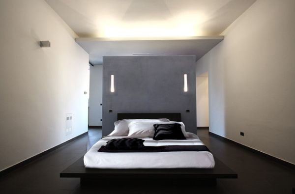 Wonderful Open Bedroom Design With A Minimalist Futuristic Touch
