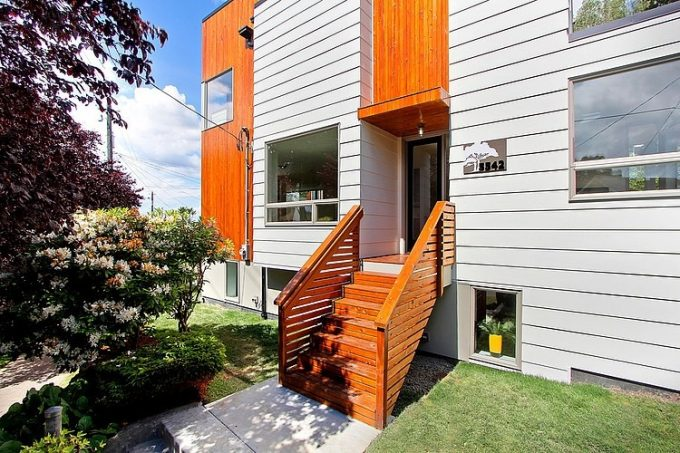 Wonderful Exterior With White Wooden And Glass Exterior Materials Modern Exterior Design