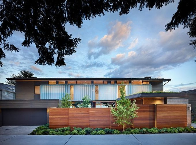 Wooden Modern House Facade Modern Wooden House In Seattle Washington