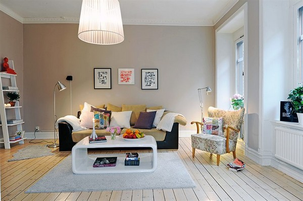 Scandinavian Living Room With Wood Slats Floor And Minimalist Also Bright Interior Is Perfect Interior Decor For Young People