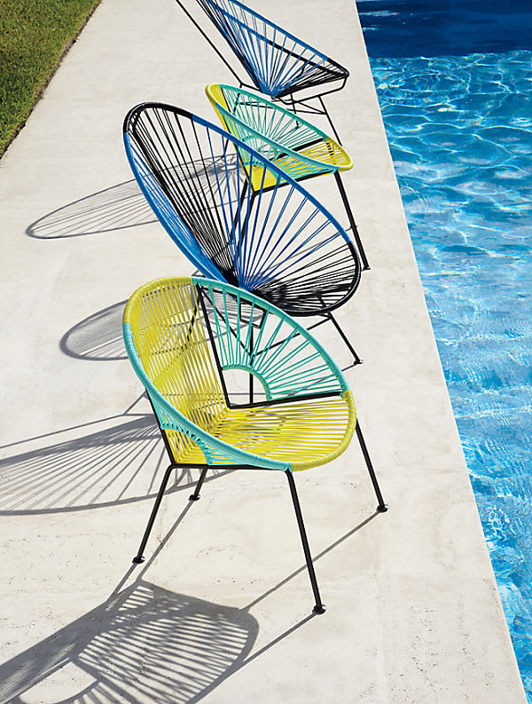 Beautiful Handwoven Modern Chairs For Out Door Patio Furniture