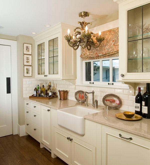Beautiful Traditional Kitchen Design With Lovely Lighting And Classy Cabinets Small Kitchen Cabinet Design