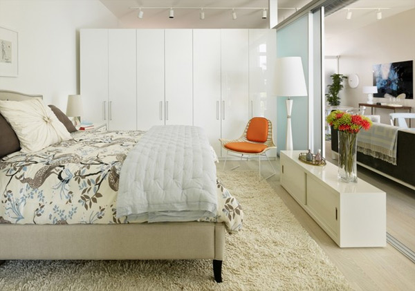 Beautiful Bedroom With Modern Chair