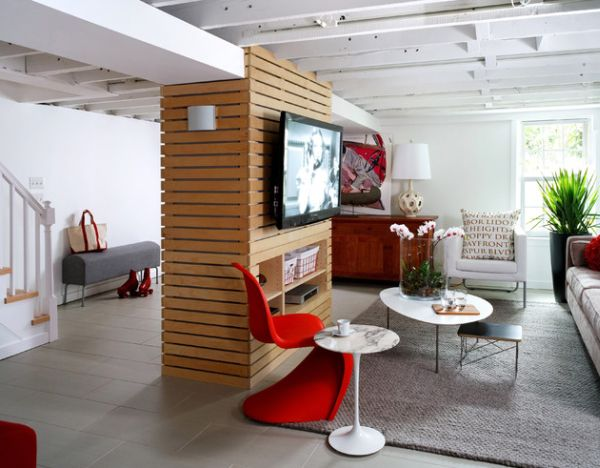 Beautiful Lounge Space With Vitra Panton Chair Sizzles Along With The Saarinen Modern Side Table