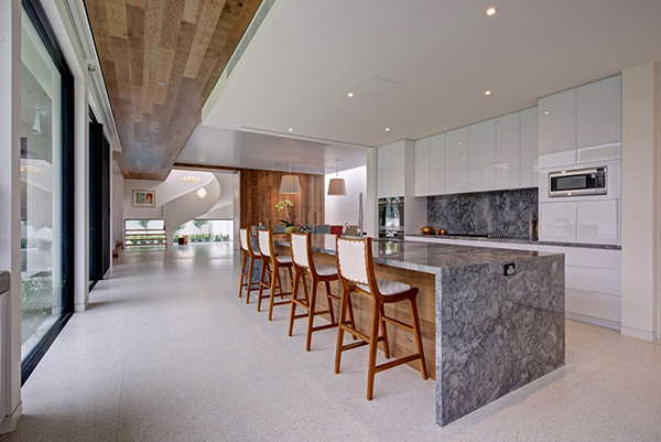 Beautiful Luxury Kitchen Design With Marble Kitchen Island