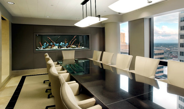 Beautiful Meeting Room Aquarium Decor For Contemporary Office Design
