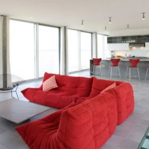 Beautiful Red Sofa For Living Room With Bertoia Diamond Lounge Chair Gives The Togo Company Here