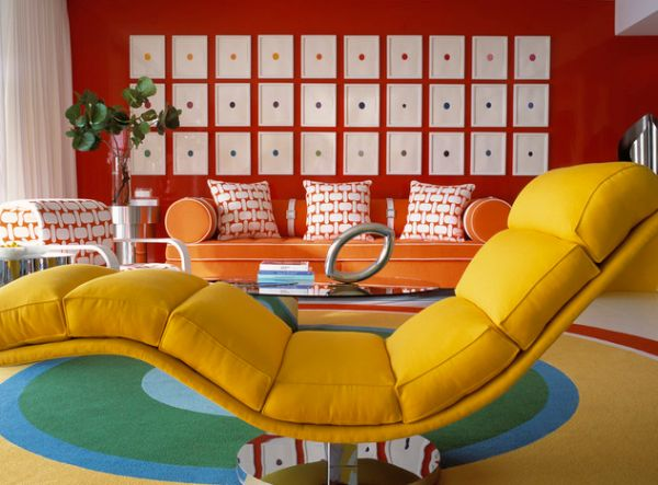 Beautiful Yellow Milo Baughman Chaise Lounge For Vivacious And Comfy Interiors With One Leg Style