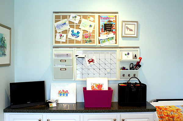 Compact Wall Space And Drawers In A Small Home Office