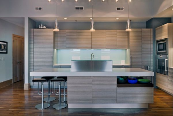 Contemporary Kitchen That Showcases The Rule Of Three Pendant Light Decor