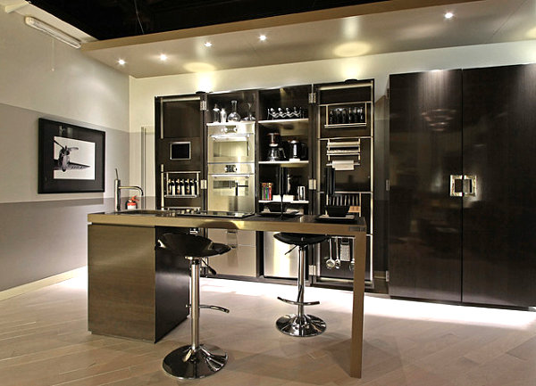 Cool Modern Metal Kitchen Bar Modern Kitchen Design