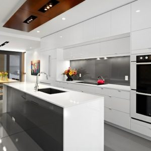 Elegant White Kitchen Details Sleek Cabinetry