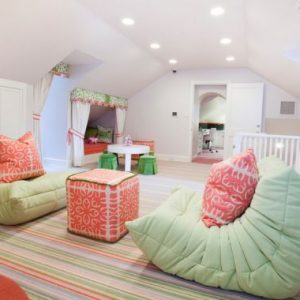 Green Iconic Togo Couch For Beautiful Kid's Bedroom