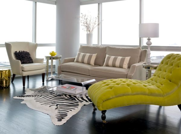 Green Lime Lounge Chaise Brings In Modern Room Decor