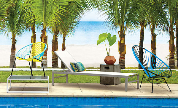 Lounge Chair Design With Outdoor Furniture Finds From CB2