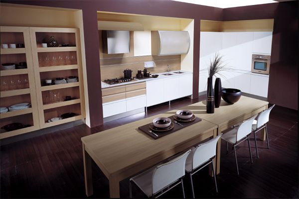 Lovely Contemporary Kitchen With A Vivid Violet Tinge For 2013 Color Trends
