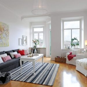 Lovely Scandinavian Living Room For Small Apartment Decor