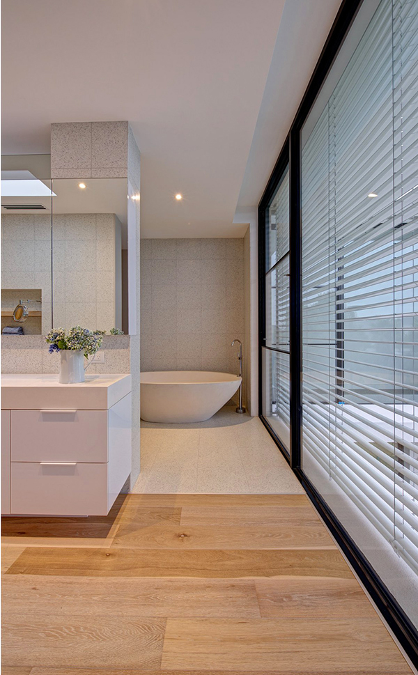 Luxury Bathroom With Bathroom And Tub Also Window Blinds