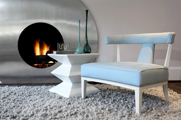 Modern Aque Blue Chair From 21 Modern Accent Chairs