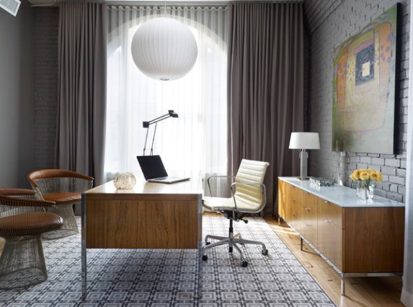 Modern Home Office With Classic Furniture