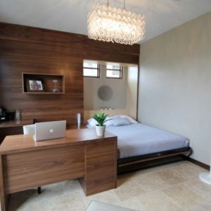 Modern Home Office With Murphy Bed Design