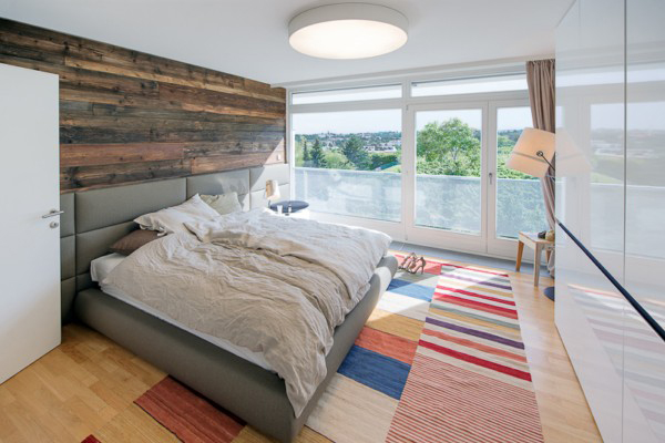 Rustic Wooden Headboard For Natural Bedroom Accent