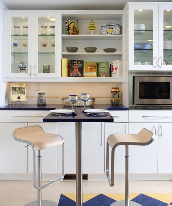 Show Glass Cabinets For A Cool Contemporary Kitchen Design