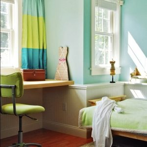 Simple Furniture And Sun Lighting In Spring Time Home Office Bedroom
