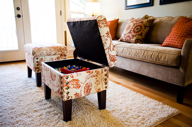 Small Ottoman With Storage Ideas For Compact Livingroom Design