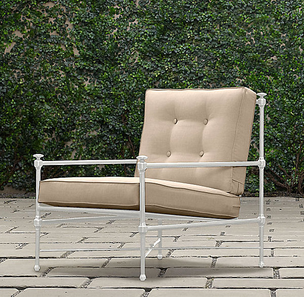 Stylish Outdoor Seating Design With Aluminum Lounge Chair