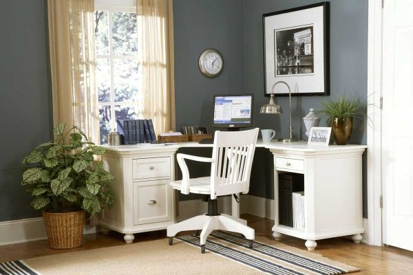 Traditional With Simple Lines Home Office Design For Small Corners