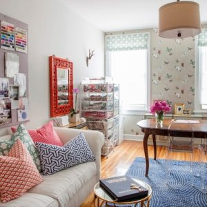 Transitional Spring Time Home Office With Classic Furnishing