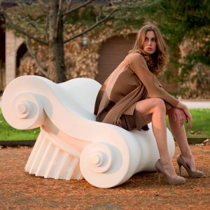 Unique French Lounge Chair By Capitello