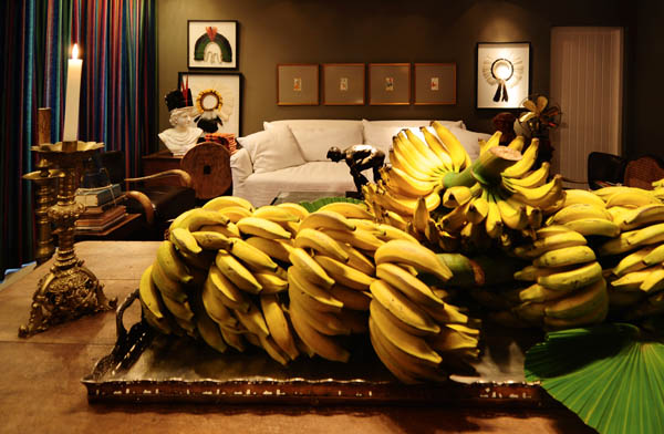 We Have Bananas By ALBUS Design Living Room With Wood Table