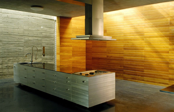 Wood Palette Wall For Modern Wood Kitchen