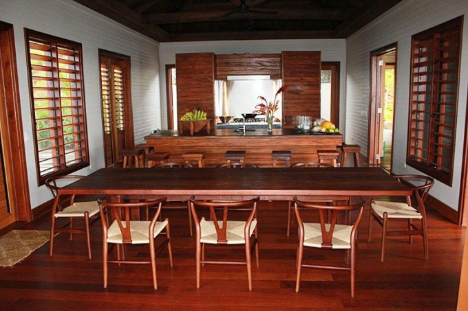 Awesome Wood Dining Room With Wood Dining Table And Woo Kitchen Design