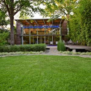 Beautiful Green House In The Garden By Cunningham Architects Facade