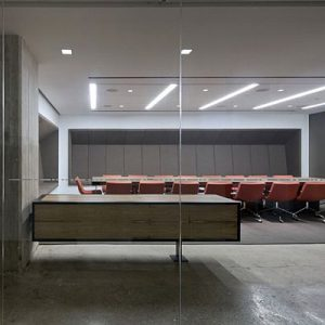Cencrete Glass And Modern Office Furniture For Modern Funoffice Decor Of Horizon Media Office