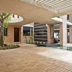Eco Friendly House Design With Brick Flooring