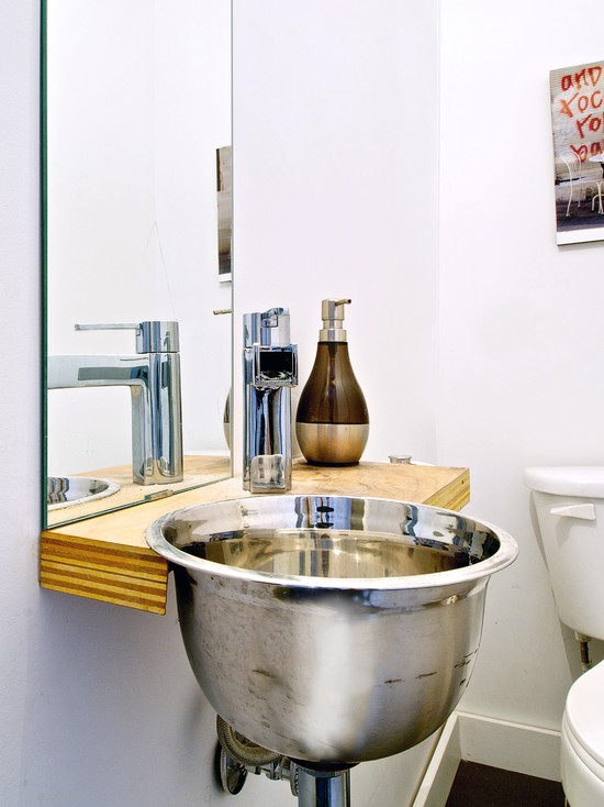 Inexpensive Bathroom Remodeling Ideas Using Recycled Sink And Minimalist Design