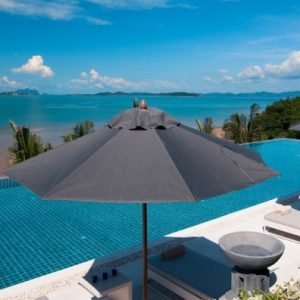 Infinity Pool With Lounge Bed For Sun Bathing