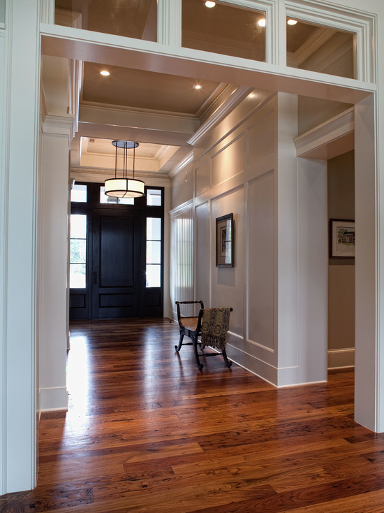 Interior Design With Molding Door Casing Andhardest Wood Flooring Also Ceiling Lighting